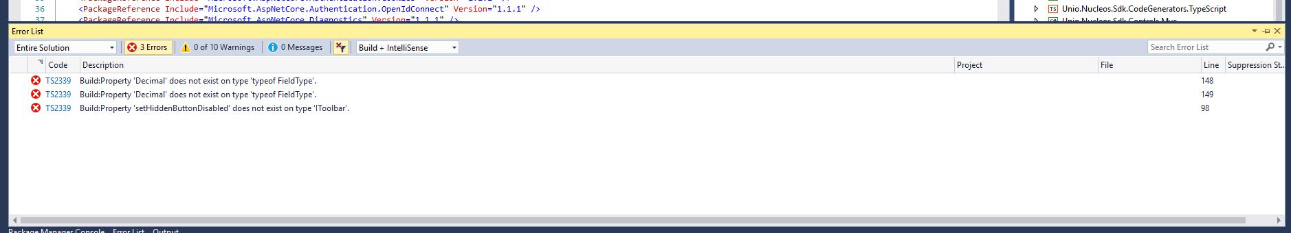 Error List