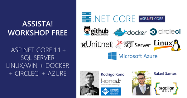 Workshop de ASP.NET CORE 1.1 + SQL SERVER LINUX + DOCKER + CIRCLECI + AZURE